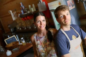 Wes Coffman and Theresa Chavarria Owners of Juice On The Square