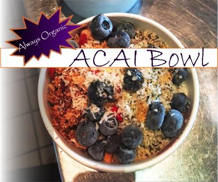 ACAI Bowl Santa Rosa Cafe